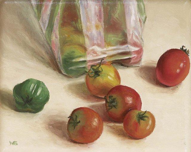 Hoofdfoto Plastic zak met tomaten