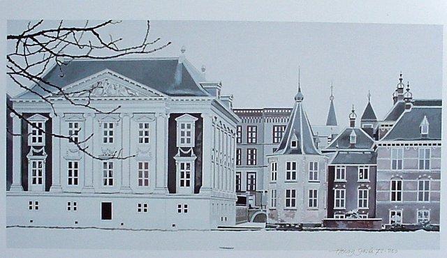 Hoofdfoto Den Haag, Bevroren Hofvijver - torentje