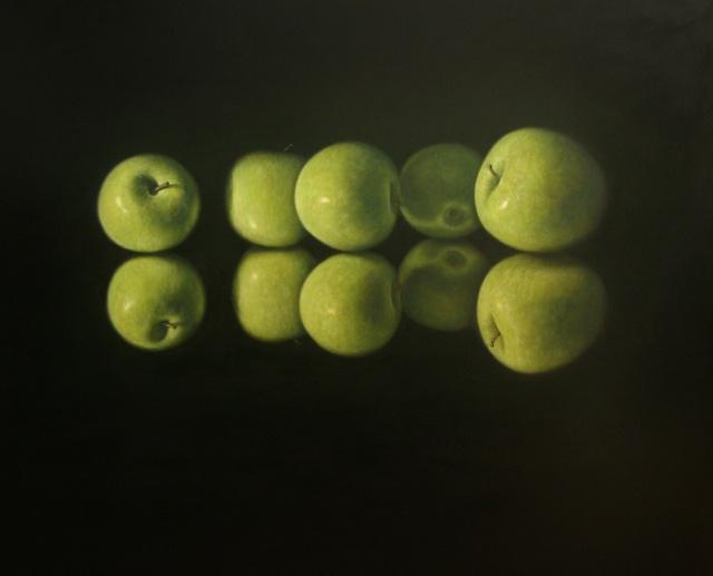 Hoofdfoto Vijf appels in het donker