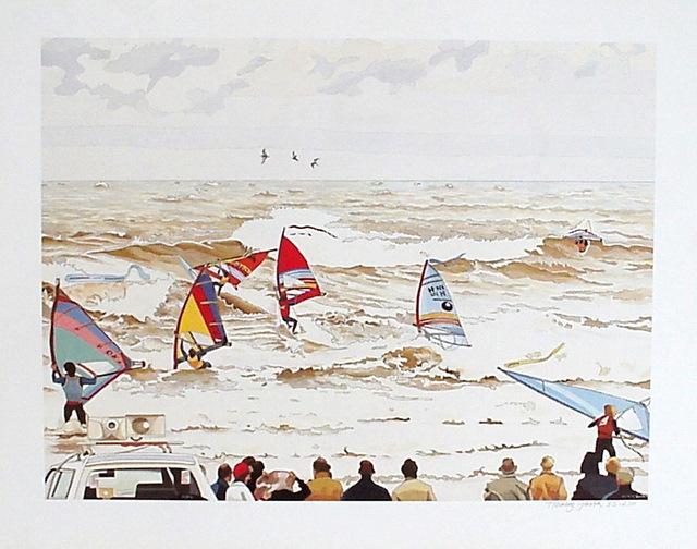 Hoofdfoto Windsurfers op Scheveningen