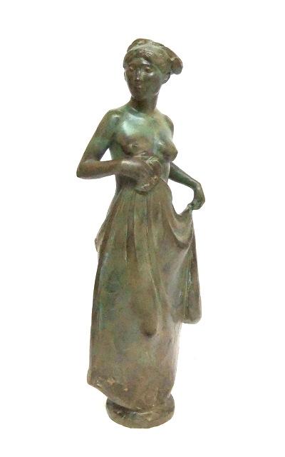 Hoofdfoto Staande vrouw met doek