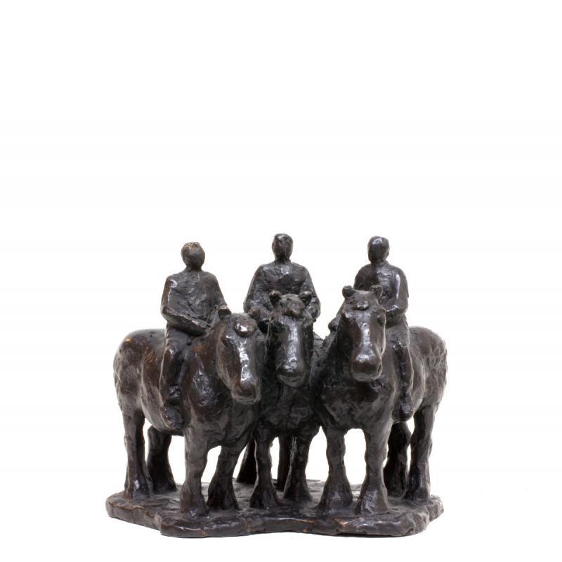 Hoofdfoto 3 paardjes met ruiters