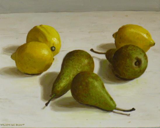 Hoofdfoto 3 citroenen en 3 peren
