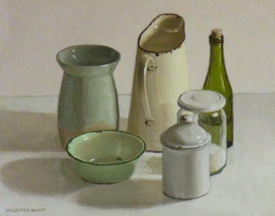 Hoofdfoto Kan, 3 potten, kommetje en fles