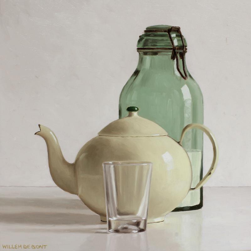 Hoofdfoto Theepot, glas en glazen pot