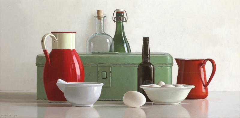 Hoofdfoto Compositie in rood en groen