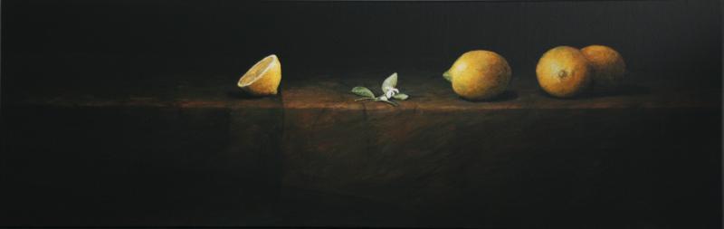 Hoofdfoto Naturaleza Muerta con Limones y Flor de Azahar II