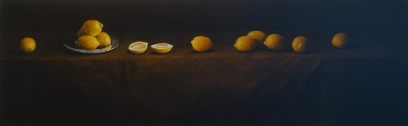 Hoofdfoto Naturaleza Muerta con Limones con Plato de Estaño
