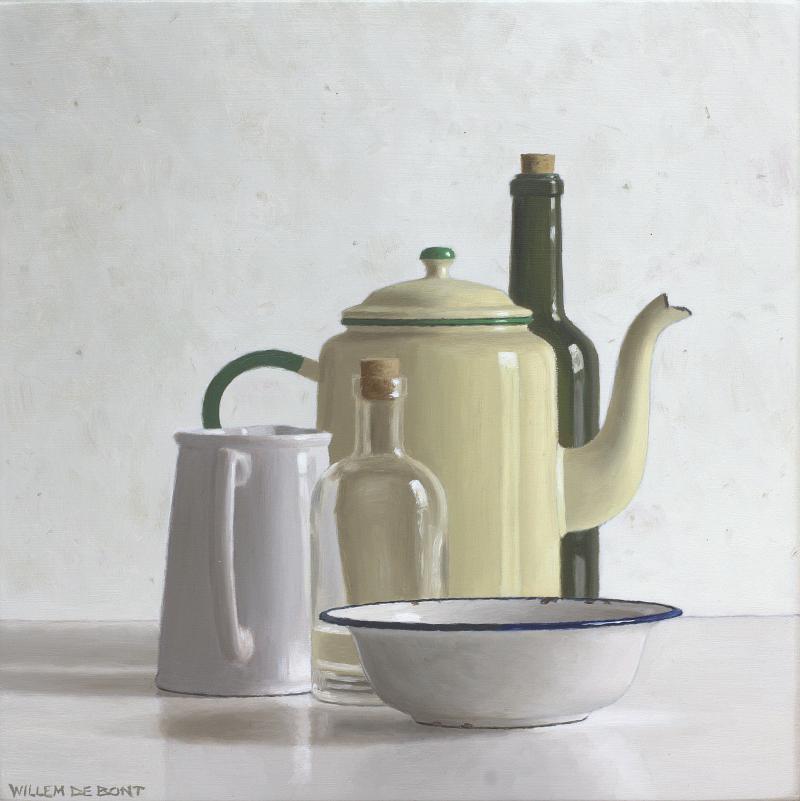 Hoofdfoto Koffiepot, 2 flessen, kan en kom