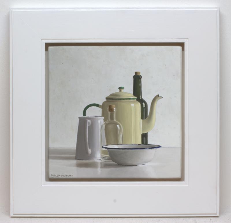Foto 2 van Koffiepot, 2 flessen, kan en kom